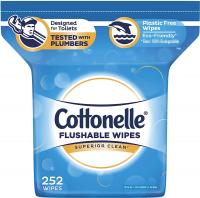 Cottonelle FreshCare Flushable Wipes for Adults, Alcohol Free, 252 Wet Wipes per Pack (Packaging May…