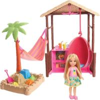 Chelsea Doll and Tiki Hut Playset with 6-Inch Blonde Doll by…