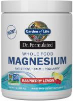 Garden of Life Dr. Formulated Whole Food Magnesium Raspberry Lemon, Chelated Non-GMO Vegan Kosher Gl…