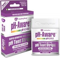 pH Test Strips 120ct - Tests Body pH Levels for Alkaline & Acid Levels Using Saliva & Urine